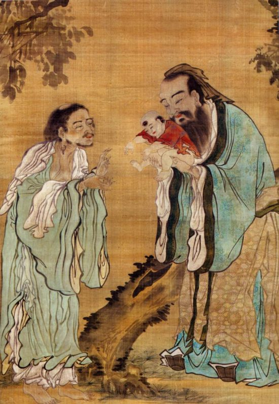 Konfuzius, Laozi und Buddha